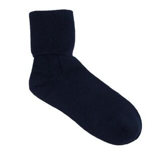Jefferies Socks Women's Organic Cotton Turn Cuff Socks (Option: Navy)