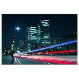 """""""Light trails on the street in Tokyo."""" Poster Print"""
