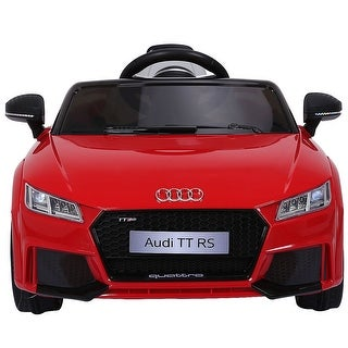 Costway Red 12V Audi TT RS Electric Kids Ride On Car Licensed Remote Control MP3