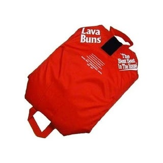 Vesture 110.92.14040 MicroCore Lava Buns Heated Seat Cushion - Red