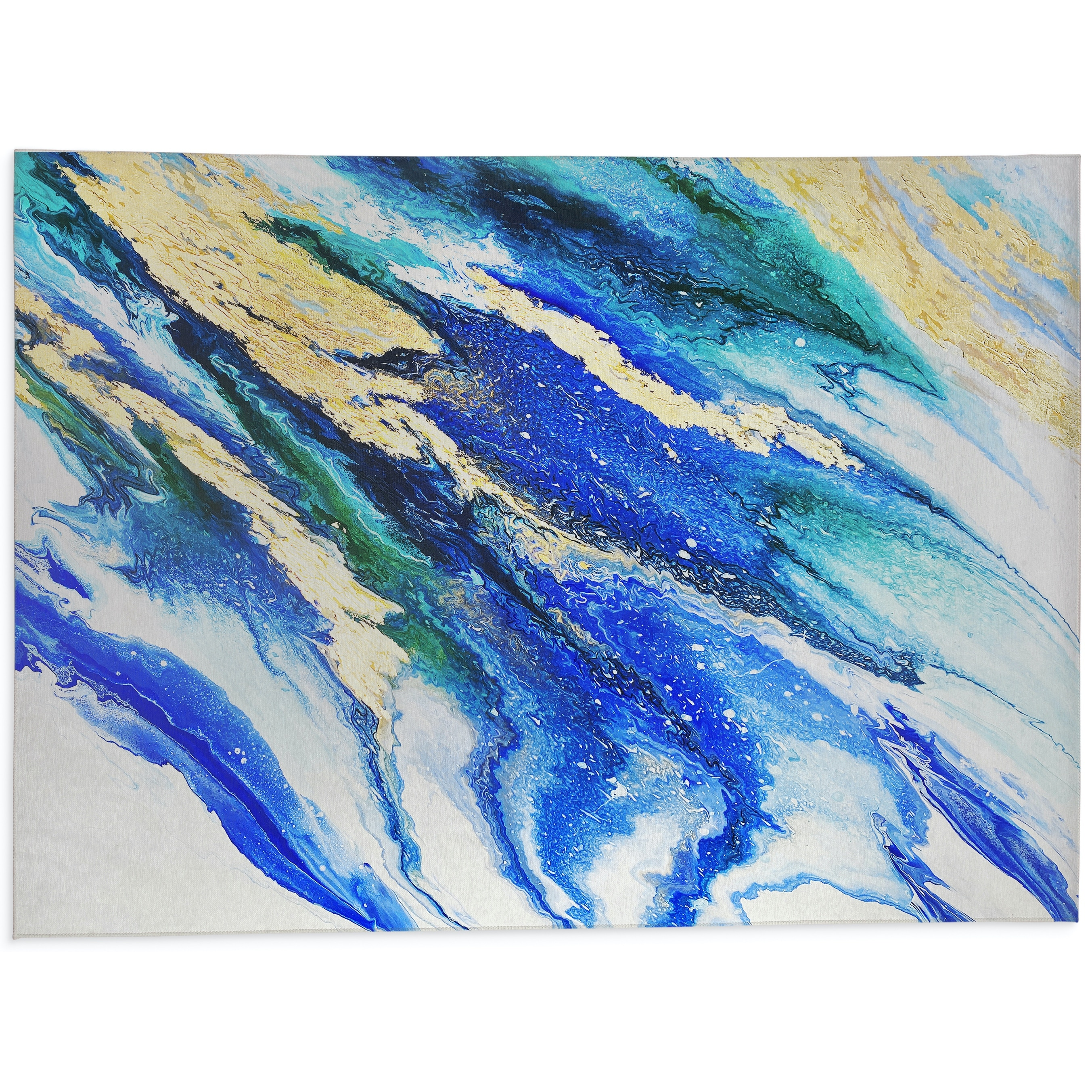 Lapis And Emerald Kitchen Mat By Alyson Mccrink Overstock 32029169