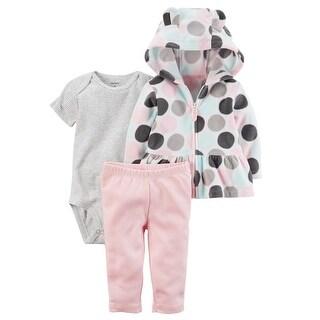 Carter's Baby Girls' 3-Piece Little Jacket Set, 3 Months