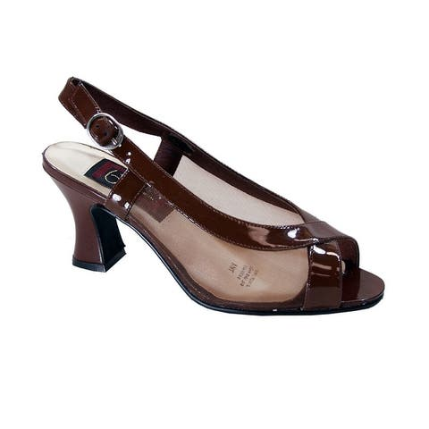 PEERAGE River Womens Extra Wide Width Leather Open-Toe Dress Sandals