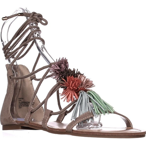 madden girl Sofun Pom Gladiator Sandals, Blush