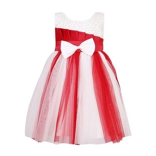 Richie House Girls' Princess Party Dress with Mesh Covered Bottom