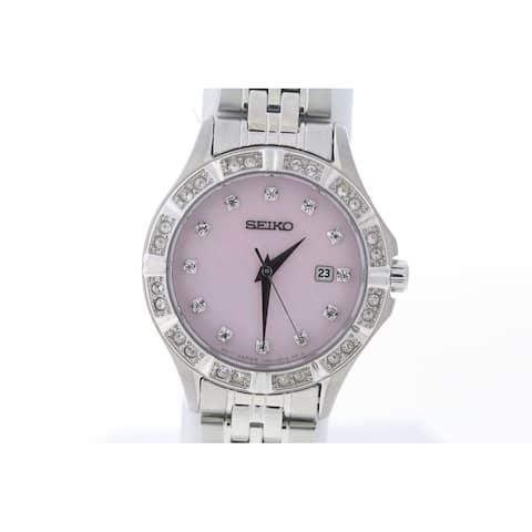 Ladies Seiko Stainless Steel Bracelet Watch - One Size