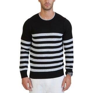 Nautica Mens Crewneck Sweater Crew Long Sleeves