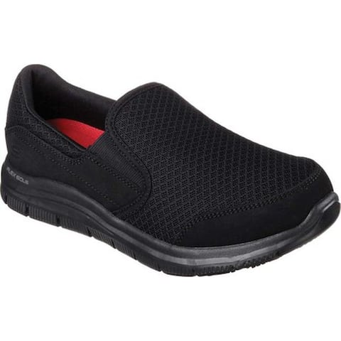 Skechers Women's Work Relaxed Fit Cozard Slip Resistant Slip On Black