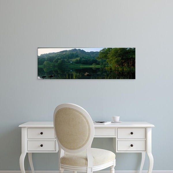 Easy Art Prints Panoramic Images's 'Loughrigg Tarn The Lake District England' Premium Canvas Art