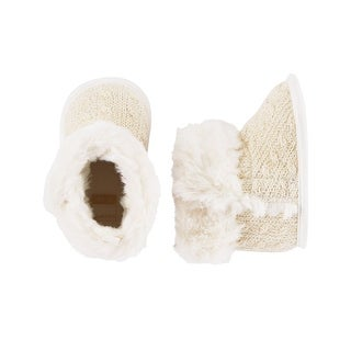 Carter's Baby Girls' Cable Cuff Boots Crib Shoes