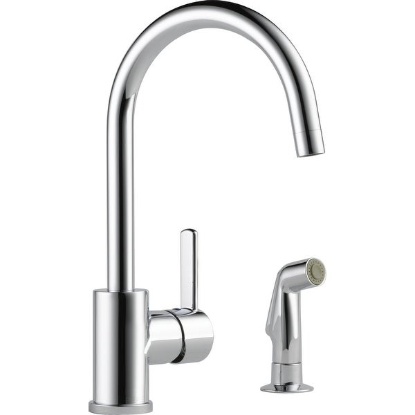 Peerless P199152LF Pull-Down Kitchen Faucet with Two-Function Spray Modes and 360 Degree Spout Swivel - Side Spray Included