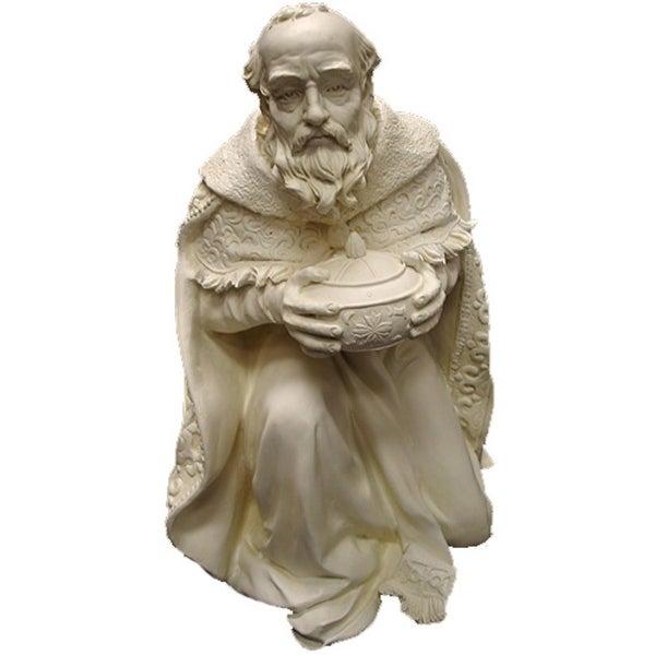 """16.5"""" Kneeling Wise Man With Gift Indoor/Outdoor Nativity Statue #21754"""