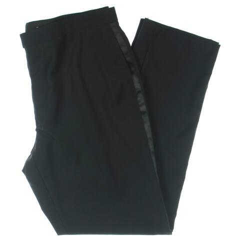 Lauren Ralph Lauren Mens Big & Tall Dress Pants Wool Tuxedo - Black