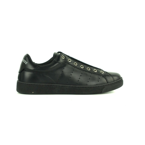 72e0bf893 Shop Dsquared2 Womens Black Leather Santa Monica Sneakers 38 US 8 ...