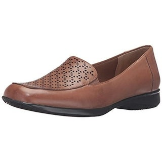Trotters Womens Jenn Laser Loafers Leather Cut Out