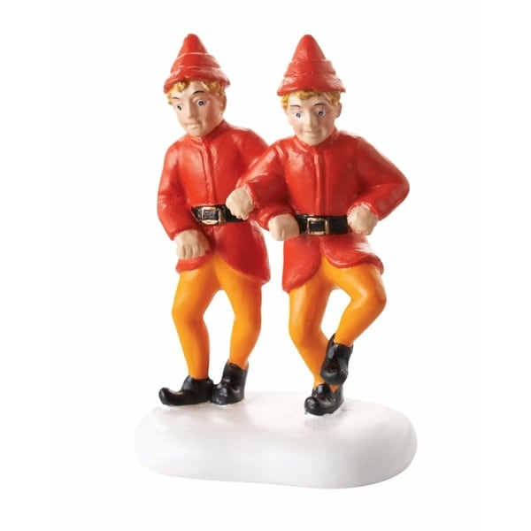 "Department 56 Elf The Movie ""The Twins' Happy Dance"" Christmas Figurine #4053061 - ORANGE"