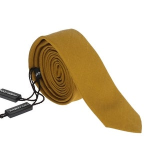 Dolce & Gabbana Yellow Silk Skinny Tie - One size