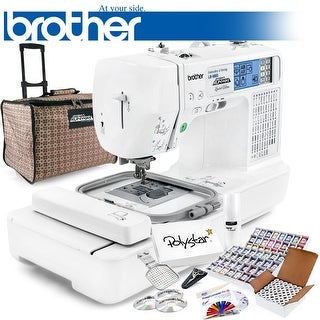 Brother LB-6800PRW Project Runway Computerized Sewing Embroidery Machine w/ Grand Slam Package + 64 Embroidery Threads + More