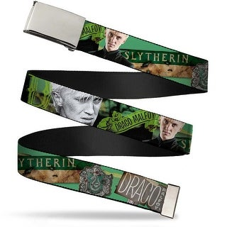 Blank Chrome Buckle Draco Malfoy Poses Draco Malfoy Slytherin Webbing Web Belt