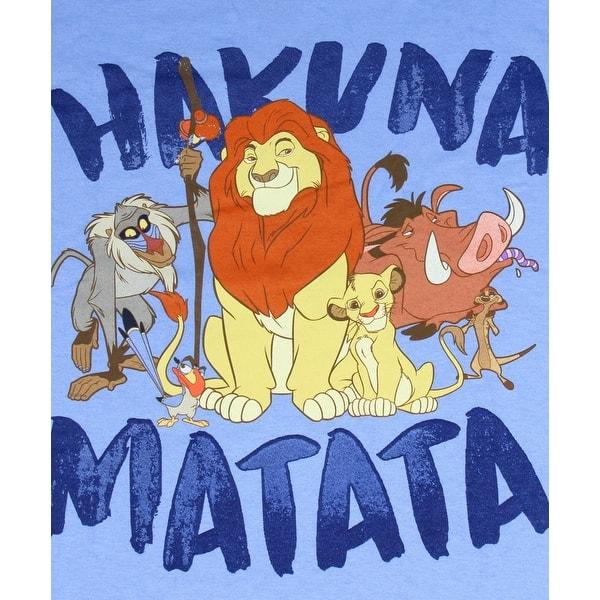 Shop Disney Men S The Lion King Hakuna Matata Mufasa Simba Timon Pumbaa Zazu Rafiki Adult T Shirt Overstock 31253865