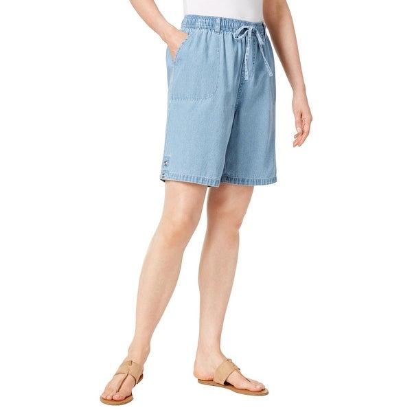 b2e2140900 Shop Karen Scott Womens Lisa Casual Shorts Denim Drawstring - XS - Free  Shipping On Orders Over $45 - Overstock - 22851946