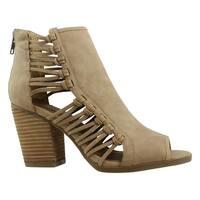 Rampage Womens Viva Brown Open Toe Heels Size 6.5