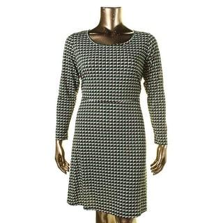 MICHAEL Michael Kors Womens Plus Printed Long Sleeves Wear to Work Dress - 1X