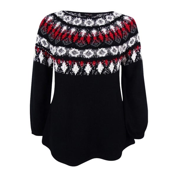 Shop Style Co Womens Plus Space Dyed Fair Isle Sweater On Sale
