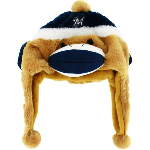 Milwaukee Brewers Sock Monkey Plush Cap