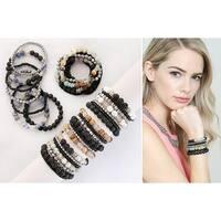Riah Fashion Lava Stone Essential Oil Diffuser Multi Strand Bracelet