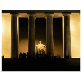"""""""Lincoln Memorial illuminated at night, Washington DC"""" Poster Print"""