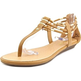 Report Lavell Women Open Toe Synthetic Tan Thong Sandal