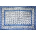 Handmade Floral Rajasthan Block Print Tablecloth 100% Cotton Rectangular Square Round Napkins - Thumbnail 2