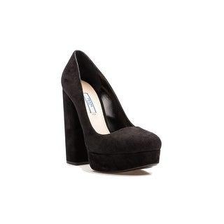 Prada Women's Suede Block High Heel Pump Shoes Black|https://ak1.ostkcdn.com/images/products/is/images/direct/9b47baa98e6fe8486a211c17890ee37c4fde5e64/Prada-Women%27s-Suede-Block-High-Heel-Pump-Shoes-Black.jpg?_ostk_perf_=percv&impolicy=medium