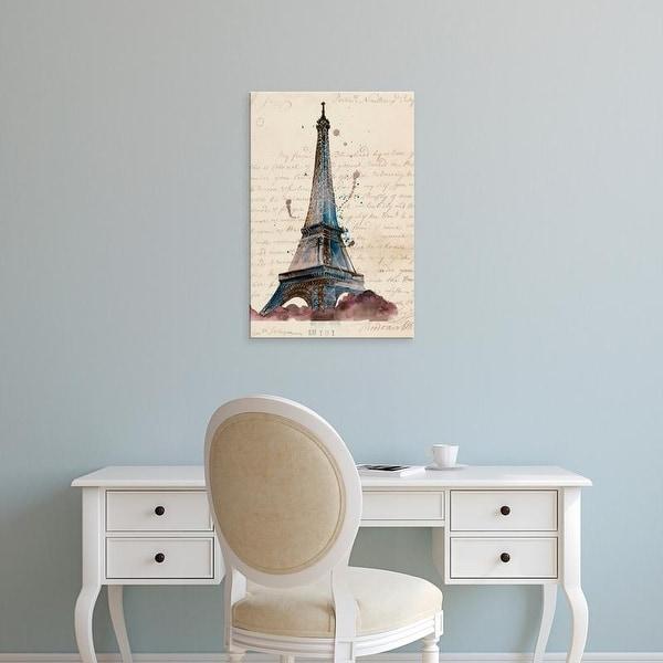 Easy Art Prints Melissa Wang's 'Letters from Eiffel' Premium Canvas Art