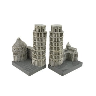 Leaning Tower Of Pisa Italy Bookends Set of 2 - TAN
