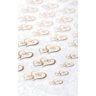 Victoria Lynn Stickers 53/Pkg-Gold Double Heart - Gold