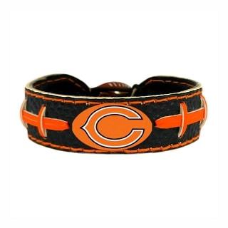 Chicago Bears Team Color NFL Gamewear Leather Football Bracelet
