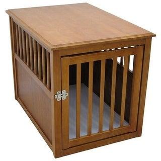 Dog Crate Table - Medium/Mahogany