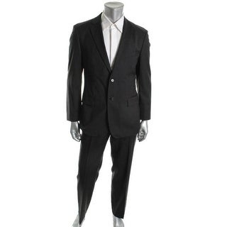 BOSS Hugo Boss Mens Pasolini Wool Flat Front Two-Button Suit - 44S