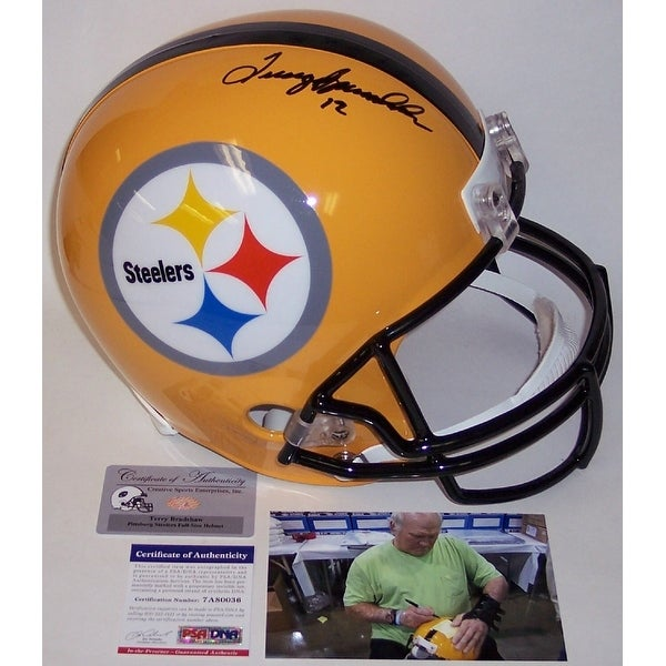 7869a4ac7 Shop Terry Bradshaw Autographed Hand Signed Pittsburgh Steelers Yellow Full  Size Helmet - PSA DNA - Free Shipping Today - Overstock - 12904600