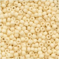 Toho Round Seed Beads 11/0 762 'Opaque Pastel Frosted Egg Shell' 8 Gram Tube
