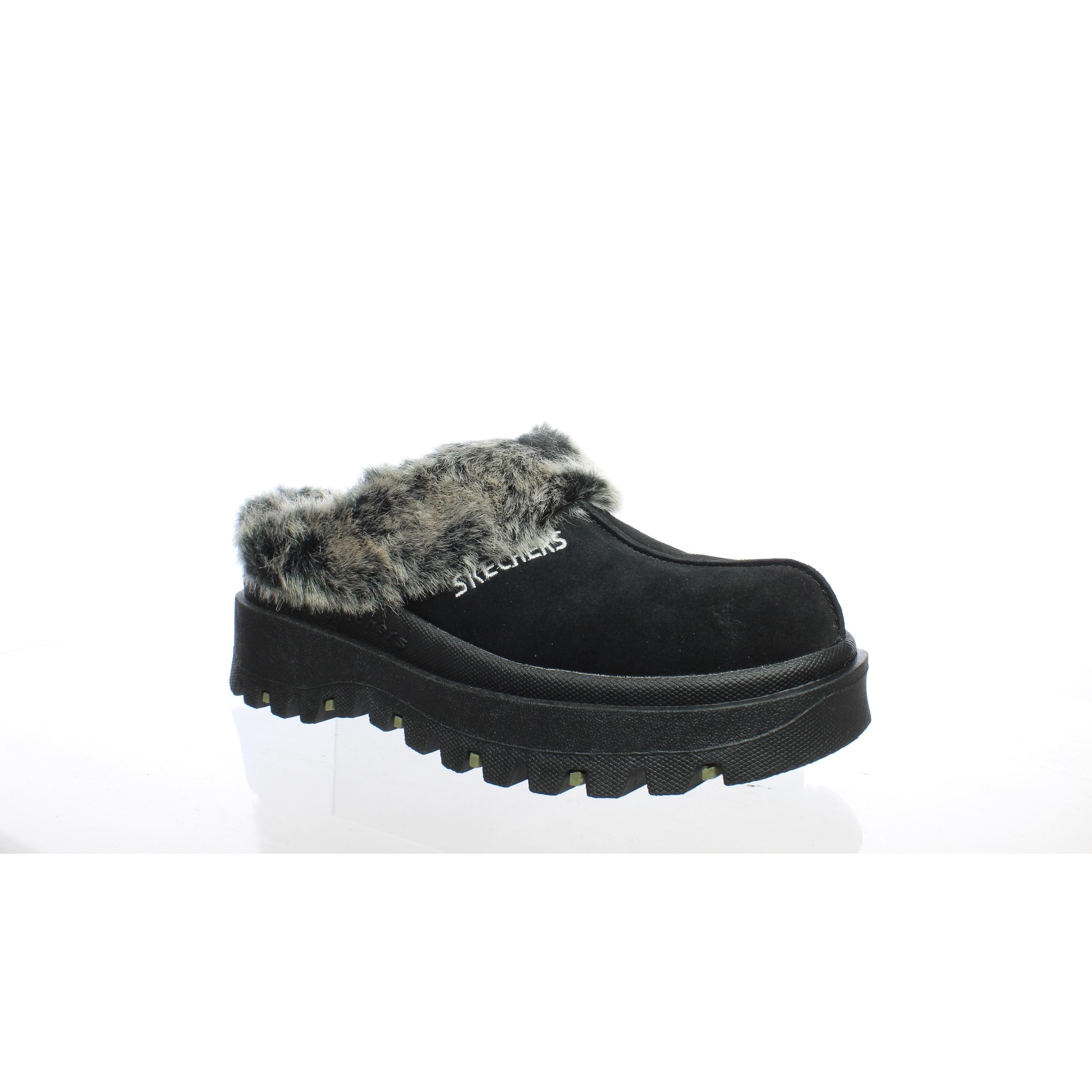 Skechers Womens Fortress Black Mule Slippers Size 5