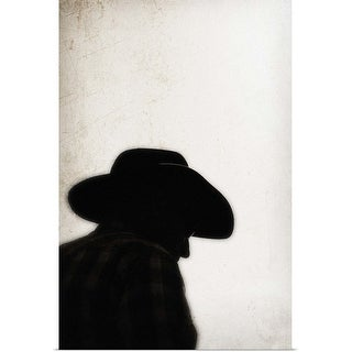 """""""Silhouette of cowboy"""" Poster Print"""