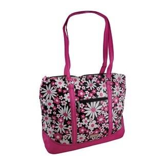 Hadaki Hannah's Tote Daisy Day Print Oversized Bag - Pink
