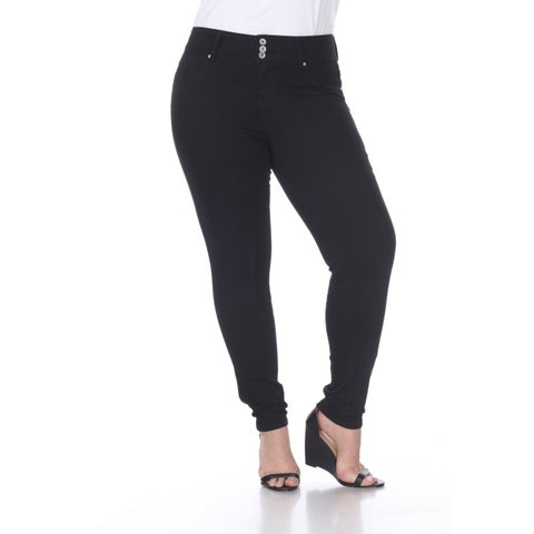 Plus Size Super Stretch Denim Jeans - Black