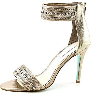 Betsey Johnson Charm Leather Sandals