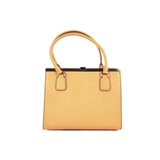 DOLCE & GABBANA Women's Orange Leather Shoulder Bag Hobo - 10x12x5