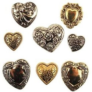 Buttons Galore BTP-4130 Button Theme Pack - Fancy Hearts