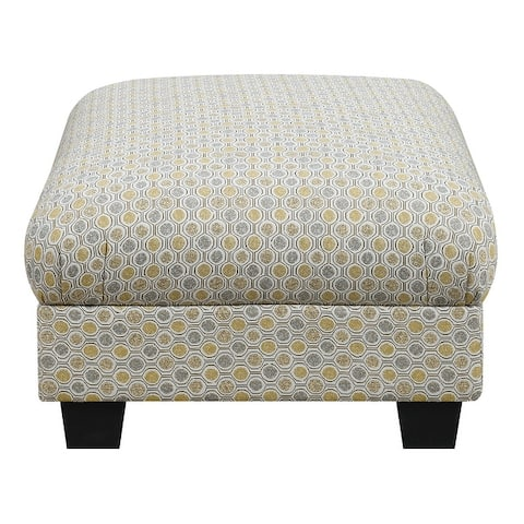 Porch & Den Donner Contemporary Upholstered Ottoman
